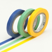 3 x 10m Washi Tape SLIM 6mm