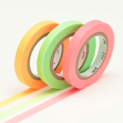 3 x 10m Washi Tape SLIM 6mm neon
