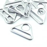 10 Stück Schlaufe dreieckig 40mm Metall