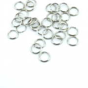 10er Pack Schlüsselring 10mm silber