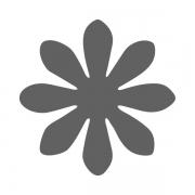 Motivstanzer klein Blume 1,7cm