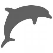 Motivstanzer klein Delfin 1,7cm