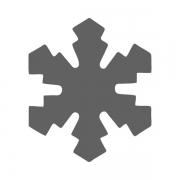 Motivstanzer klein Eiskristall 1,7cm