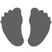 Motivstanzer klein Füße 1,7cm