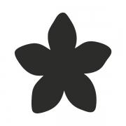 Motivstanzer groß Blüte 2,5cm