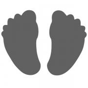 Motivstanzer groß Füße 2,5cm
