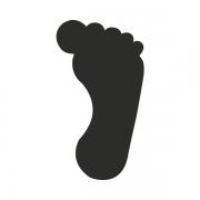 Motivstanzer groß Fuß 2,5cm