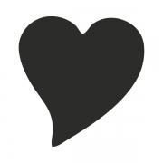 Motivstanzer groß Herz elegant 2,5cm