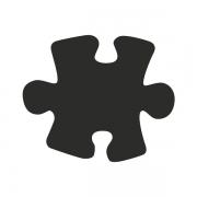 Motivstanzer groß Puzzle 2,5cm