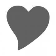 Motivstanzer klein Herz elegant 1,7cm