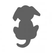 Motivstanzer klein Hund 1,7cm