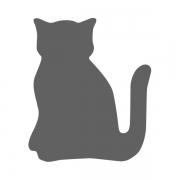 Motivstanzer klein Katze 1,7cm