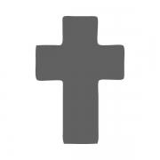 Motivstanzer klein Kreuz 1,7cm