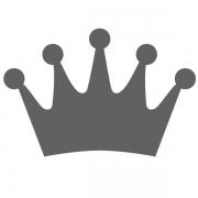 Motivstanzer klein Krone 1,7cm