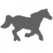 Motivstanzer klein Pferd 1,7cm