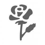 Motivstanzer klein Rose 1,7cm