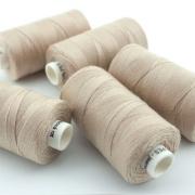 Nähgarn beige Stärke 30 Polyester