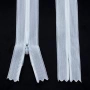 Nahtverdeckter Reißverschluss 20cm weiß, 5 Stück
