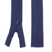 Nahtverdeckter Reißverschluss 20cm dunkelblau, 5 Stück