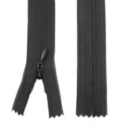 Nahtverdeckter Reißverschluss 50cm schwarz