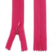 Nahtverdeckter Reißverschluss 20cm pink, 5 Stück