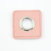 Ösen-Patches rosa 10mm - Öse silber