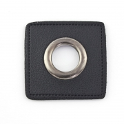 Ösen-Patches schwarz 11mm - Öse schwarz brüniert