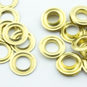 100 Stk. Ösen 12mm x 5mm gold