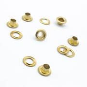 100 Stk. Ösen 5.5mm x 5mm gold