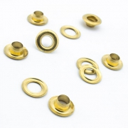 100 Stk. Ösen 7mm x 5mm gold