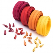 12m Opti Reißverschluss Set Rottöne 3mm