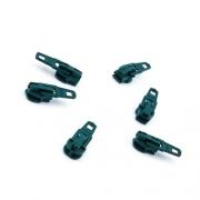 Opti Reißverschluss-Schieber 3mm dunkelgrün Col. 5968