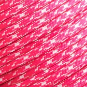 15m Paracord 550 Typ III neon pink & white camo