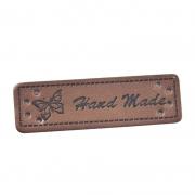 Handmade-Label dunkelbraun 50mm x 15mm
