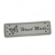 Handmade-Label grau 50mm x 15mm