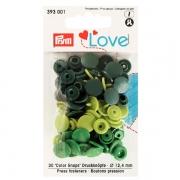 Prym Love Color Snaps 30 Stk. grün, hellgrün 393001