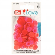 Prym Love Color Snaps 30 Stk. rot, orange, pink 393002