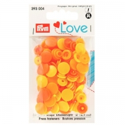 Prym Love Color Snaps 30 Stk. gelb, orange 393004