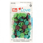 Prym Love Color Snaps 30 Stk. grün, hellgrün, braun 393005