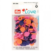 Prym Love Color Snaps 30 Stk. orange, pink, violett 393006