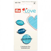 Prym handmade Pins blau 3 Stück 403740