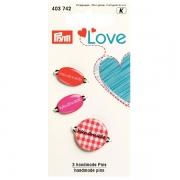 Prym handmade Pins rot 3 Stück 403742