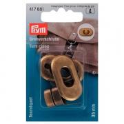 Prym Drehverschluss 35mm altmessing 417881