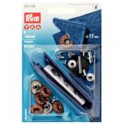 Prym Jeans-Knöpfe altbronze 17mm Stern 622238