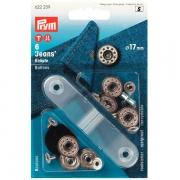 Prym Jeans-Knöpfe silber 17mm Stern 622239