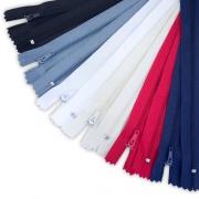 12 Reißverschlüsse 20cm - 6 Farben