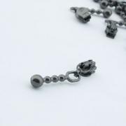 10 Stück Zipper schwarz brüniert für 3mm Reißverschluss