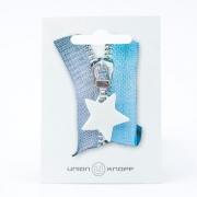 Reißverschlussanhänger Stern weiß