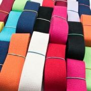 400 Gramm Baumwoll-Gurtband Reste 30mm (ca. 20m)