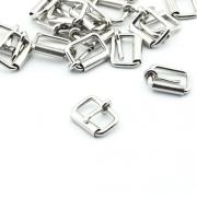 10 Stück Rollschnalle 16mm x 10mm silber